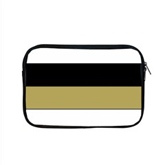 Black Brown Gold White Horizontal Stripes Elegant 8000 Sv Festive Stripe Apple Macbook Pro 15  Zipper Case by yoursparklingshop