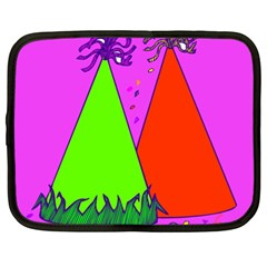 Birthday Hat Party Netbook Case (xl)  by AnjaniArt