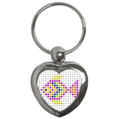 Colored Fish Key Chains (heart)  by AnjaniArt