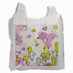 Cut Bird Recycle Bag (two Side)  by AnjaniArt