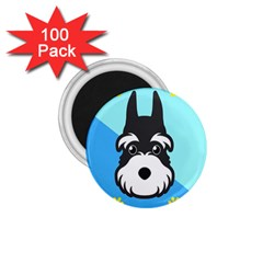 Face Dog 1 75  Magnets (100 Pack)  by AnjaniArt