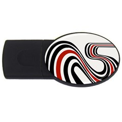 Curving, White Background USB Flash Drive Oval (2 GB)  by AnjaniArt