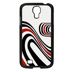 Curving, White Background Samsung Galaxy S4 I9500/ I9505 Case (black) by AnjaniArt