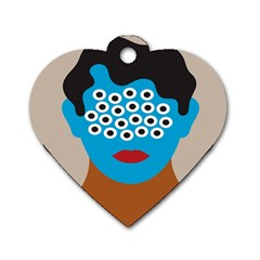 Face Eye Human Dog Tag Heart (one Side) by AnjaniArt