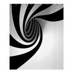 Hole Black White Shower Curtain 60  X 72  (medium)  by AnjaniArt