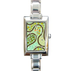 Hilly Roads Rectangle Italian Charm Watch by AnjaniArt