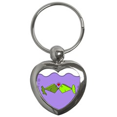 Kissing Fish Key Chains (heart)  by AnjaniArt
