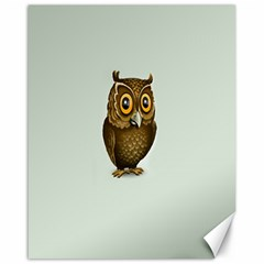 Owl Canvas 16  X 20   by AnjaniArt