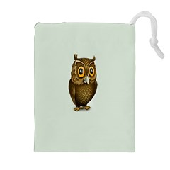 Owl Drawstring Pouches (Extra Large) by AnjaniArt