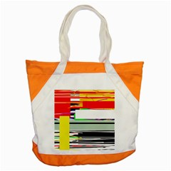 Lines And Squares  Accent Tote Bag by Valentinaart