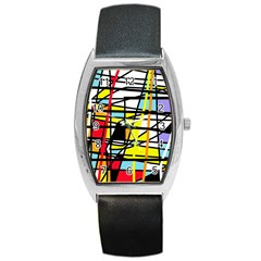 Casual Abstraction Barrel Style Metal Watch by Valentinaart