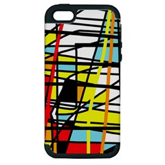 Casual Abstraction Apple Iphone 5 Hardshell Case (pc+silicone) by Valentinaart