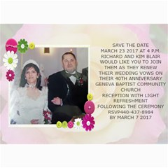 Save The Date Wedding Card 1 By Kim Blair   5  X 7  Photo Cards   T685musnzbs4   Www Artscow Com 7 x5 Photo Card - 2