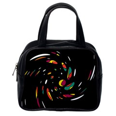 Colorful Twist Classic Handbags (one Side) by Valentinaart