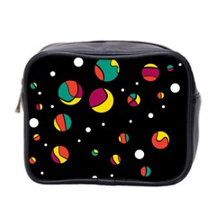 Colorful Dots Mini Toiletries Bag 2 Side by Valentinaart