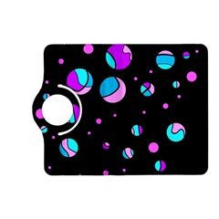 Blue And Purple Dots Kindle Fire Hd (2013) Flip 360 Case by Valentinaart