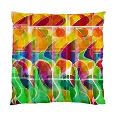 Abstract sunrise Standard Cushion Case (Two Sides) by Valentinaart