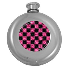Square1 Black Marble & Pink Marble Hip Flask (5 Oz) by trendistuff