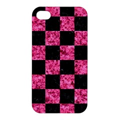 Square1 Black Marble & Pink Marble Apple Iphone 4/4s Hardshell Case by trendistuff