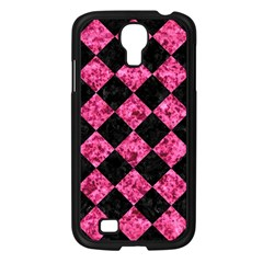 Square2 Black Marble & Pink Marble Samsung Galaxy S4 I9500/ I9505 Case (black) by trendistuff