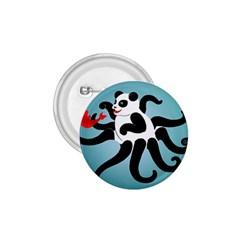 Panda Octopus Fish Blue 1 75  Buttons by AnjaniArt