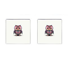 Owl Colorful Cufflinks (square) by AnjaniArt