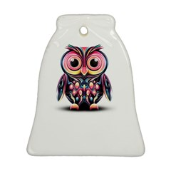 Owl Colorful Bell Ornament (2 Sides) by AnjaniArt