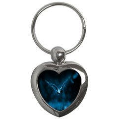 Night Owl Wide Key Chains (heart)  by AnjaniArt