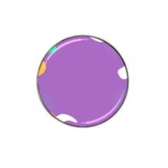 Purple Hat Clip Ball Marker by AnjaniArt