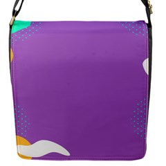 Purple Flap Messenger Bag (s) by AnjaniArt