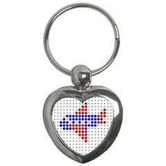 Plane Key Chains (heart)  by AnjaniArt