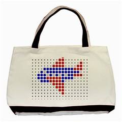 Plane Basic Tote Bag (two Sides) by AnjaniArt