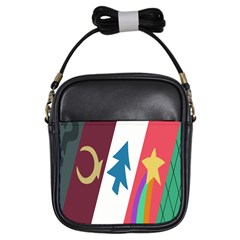 Star Color Girls Sling Bags by AnjaniArt