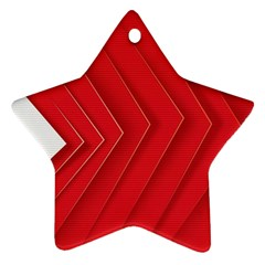 Rank Red White Star Ornament (Two Sides)
