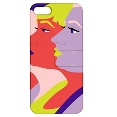 Three Beautiful Face Apple Iphone 5 Hardshell Case With Stand by AnjaniArt