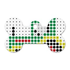 Tractor Perler Bead Dog Tag Bone (one Side) by AnjaniArt