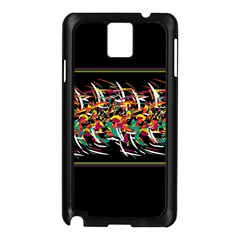 Colorful Barbwire  Samsung Galaxy Note 3 N9005 Case (black) by Valentinaart