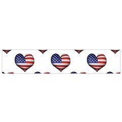 Usa Grunge Heart Shaped Flag Pattern Flano Scarf (small)  by dflcprints
