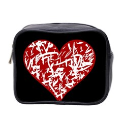 Valentine s Day Design Mini Toiletries Bag 2 Side by Valentinaart