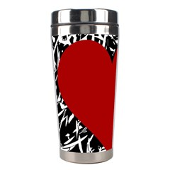 Red Valentine Stainless Steel Travel Tumblers by Valentinaart
