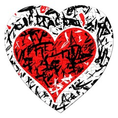 Red Hart   Graffiti Style Jigsaw Puzzle (heart) by Valentinaart