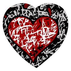 Red Graffiti Style Hart  Jigsaw Puzzle (heart) by Valentinaart