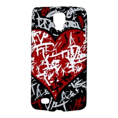Red Graffiti Style Hart  Galaxy S4 Active by Valentinaart