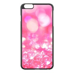 Cute Pink Transparent Diamond  Apple Iphone 6 Plus/6s Plus Black Enamel Case by Brittlevirginclothing