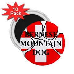Ber Mt Dog Name Paw Switzerland Flag 2.25  Magnets (10 pack)  by TailWags