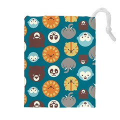 Animal Pattern Drawstring Pouches (Extra Large) by Zeze
