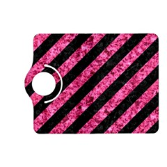 Stripes3 Black Marble & Pink Marble Kindle Fire Hd (2013) Flip 360 Case by trendistuff