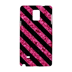 Stripes3 Black Marble & Pink Marble (r) Samsung Galaxy Note 4 Hardshell Case by trendistuff