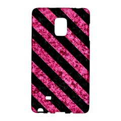 Stripes3 Black Marble & Pink Marble (r) Samsung Galaxy Note Edge Hardshell Case by trendistuff