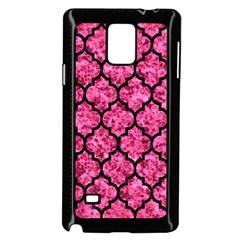 Tile1 Black Marble & Pink Marble (r) Samsung Galaxy Note 4 Case (black) by trendistuff